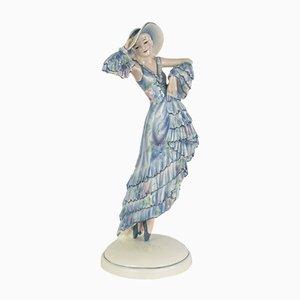 Figurine Art Déco en Céramique par Josef Lorenzl pour Goldscheider, 1920s