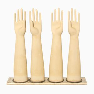 Vintage Porcelain Petite Latex Glove Molds from AGH, 1970s, Set of 4