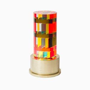 Runde NA Lucite Tischlampe von Studio Superego