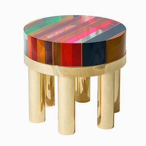 Table Basse DNA Ronde en Plexiglas par Studio Superego