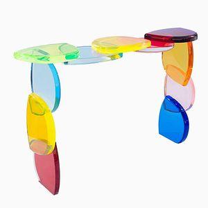 Table Console Bon Bon en Plexiglas par Poliedrica, 2017
