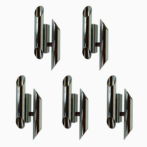 Wall Lights by Gianni Celada for Fontana Arte, 1970s, Set of 5
