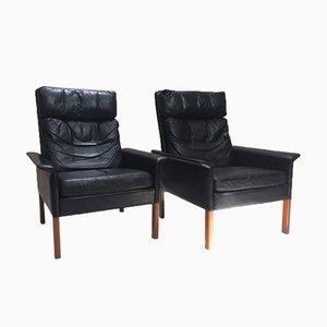 Danish Leather Chairs by Hans Olsen for Christian Sørensen, 1960s, Set of 2