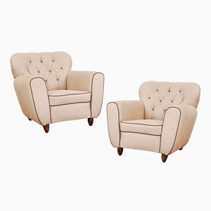Armchairs, 1940s, Set of 2