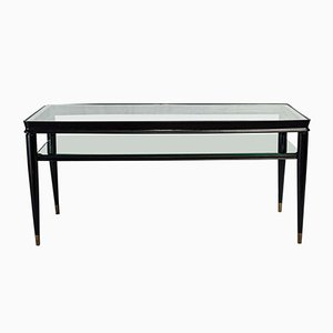 Vintage Italian Black Lacquered Table