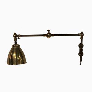 Lampada da parete vintage in ottone e ferro