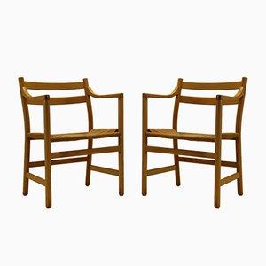 Vintage CH46 Armlehnstühle von Hans J. Wegner für Carl Hansen, 2er Set