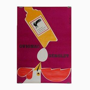 Poster vintage di Hans Peter Sommer, Svizzera