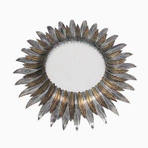 Französischer Vintage Spiegel mit Metallrahmen