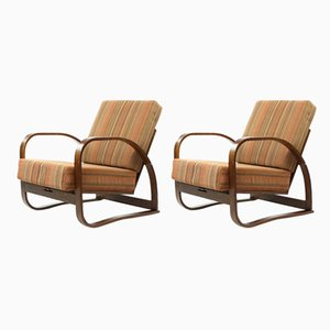 H70 Armchairs by Jindřich Halabala, 1930s, Set of 2