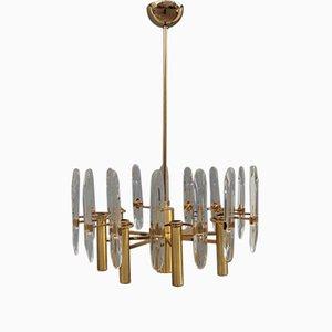 Lámpara de araña italiana modernista de Gaetano Sciolari, años 70