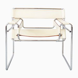 Sedia Wassily B3 vintage Bauhaus di Marcel Breuer per Gavina