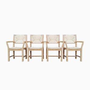 Dänische Kiefernholz Stühle von Page Poulsen für Gramrode, 1974, 4er Set