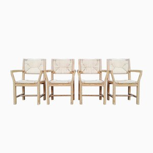 Danish Pine Chairs by Tage Poulsen for Gramrode, 1974, Set of 4
