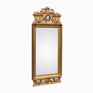 Antique Gustavian Mirror with Gem
