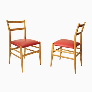 Beistellstühle von Gio Ponti für Cassina, 1950er, 2er Set