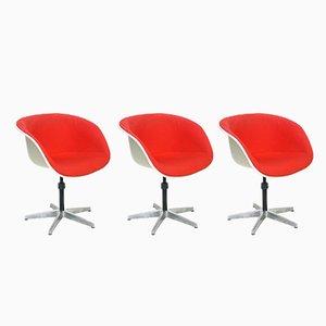 Poltronas de Charles & Ray Eames para Herman Miller, años 60. Juego de 3