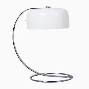 Lámpara de escritorio Tropic de plexiglás blanco y acero cromado de Raak, años 70