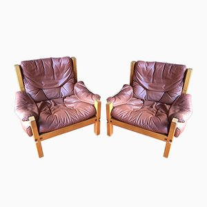 S15 Easy Chairs by Pierre Chapo, 1960s, Set of 2