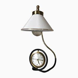 Lámpara con despertador de Bayard, años 60