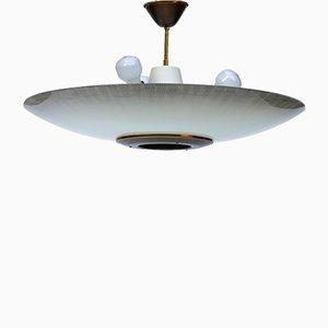Lámpara de techo UFO alemana Art Déco vintage, años 40