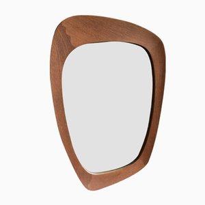 Specchio da parete in quercia di Östen & Uno Kristiansson per Luxus, anni '50