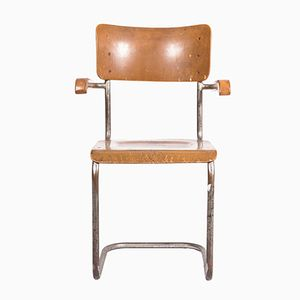 Brauner Mid-Century Stuhl, 1960er