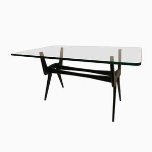 Table Basse Vintage en Verre Fumé par Cesare Lacca