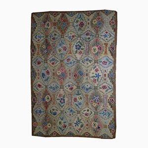Tapis Antique Fait à la Main Crocheté, Etats-Unis, 1900s