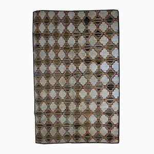 Tapis Antique Fait à la Main Crocheté, Etats-Unis, 1880s