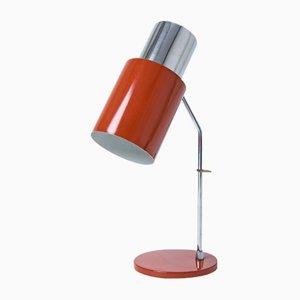Lámpara de mesa vintage roja de Josef Hurka para Napako, años 70