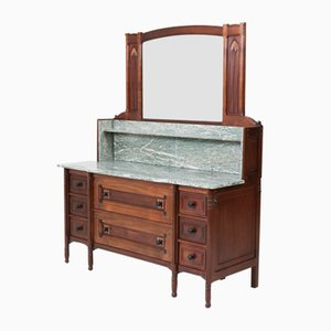 Arts & Crafts Mahogany Vanity by Jac van den Bosch for 't Binnenhuis, 1900s