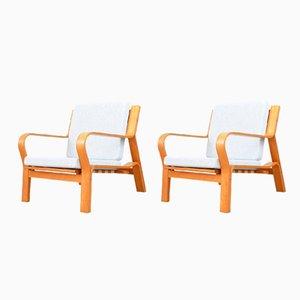 Vintage Modell GE 671 Sessel von Hans J. Wegner für Getama, 2er Set