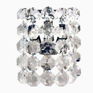 Lampada da parete vintage in cristallo di Bakalowits & Sohne
