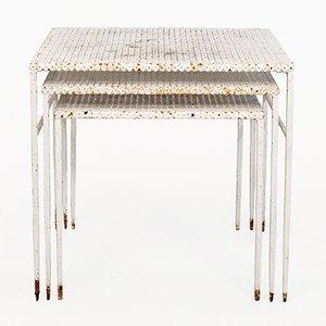 Tavolini a incastro di Mathieu Matégot, anni '50