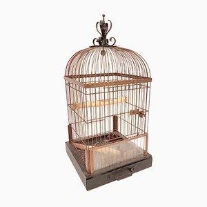 Deutscher Papagei Käfig aus Kupfer, 1930er