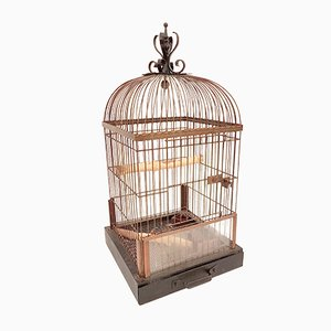 German Copper Parrot Cage, 1930s