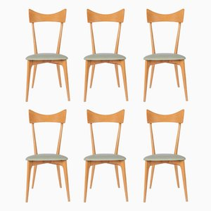 Vintage Dining Chairs by Ico & Luisa Parisi, 1940s, Set of 6