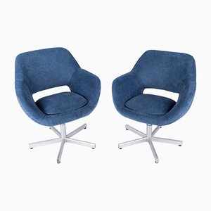 German Swivel Chairs, 1960s, Set of 2