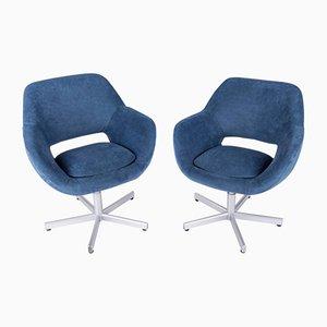 German Swivel Chairs, 1960s, Set of 2