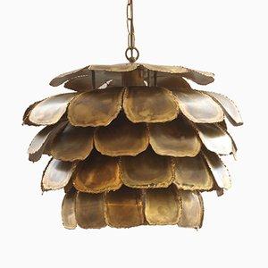 Große 6435 Deckenlampe aus Brennschnitt-Messing von Sven Aage für Holm Sorensen, 1960er