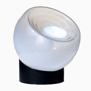 Vintage Murano Glass & Steel Table Lamp from Selenova