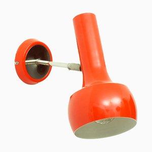 Schweizer Rot-Orange Wand- oder Deckenlampe von LAD Team für Swisslamps International, 1960er