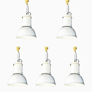 Lámpara colgante modelo Lampara de Fontana Arte, años 70. Juego de 5