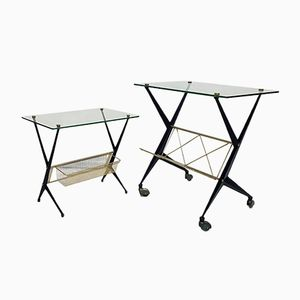 Italian Side Tables by Angelo Ostuni for Frangi Milano, 1950s, Set of 2