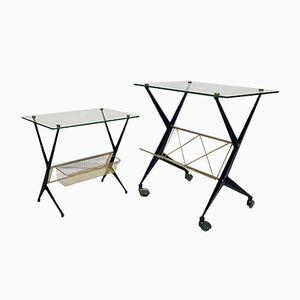 Tables d'Appoint par Angelo Ostuni pour Frangi Milano, Italie, 1950s, Set de 2