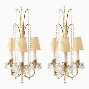 Lámparas de mesa de J & L Lobmeyr, años 50. Juego de 2