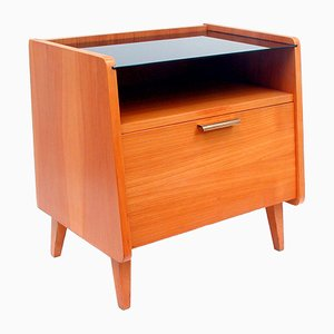 Mid-Century Teak & Glass Commode, 1960s