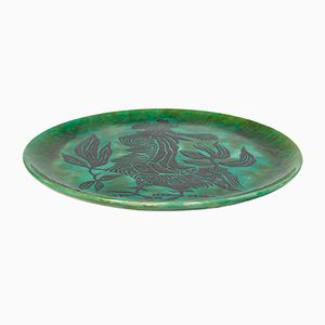 Large Ceramic Platter by Jean Lurçat for Sant Vicens, 1960s