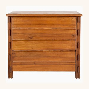 Elmwood Chest of Drawers by Pierre Chapo, 1970s
